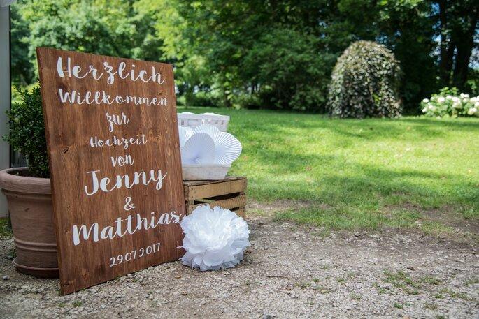 Kiehl Wedding Hochzeitsplanung Willkommensschild