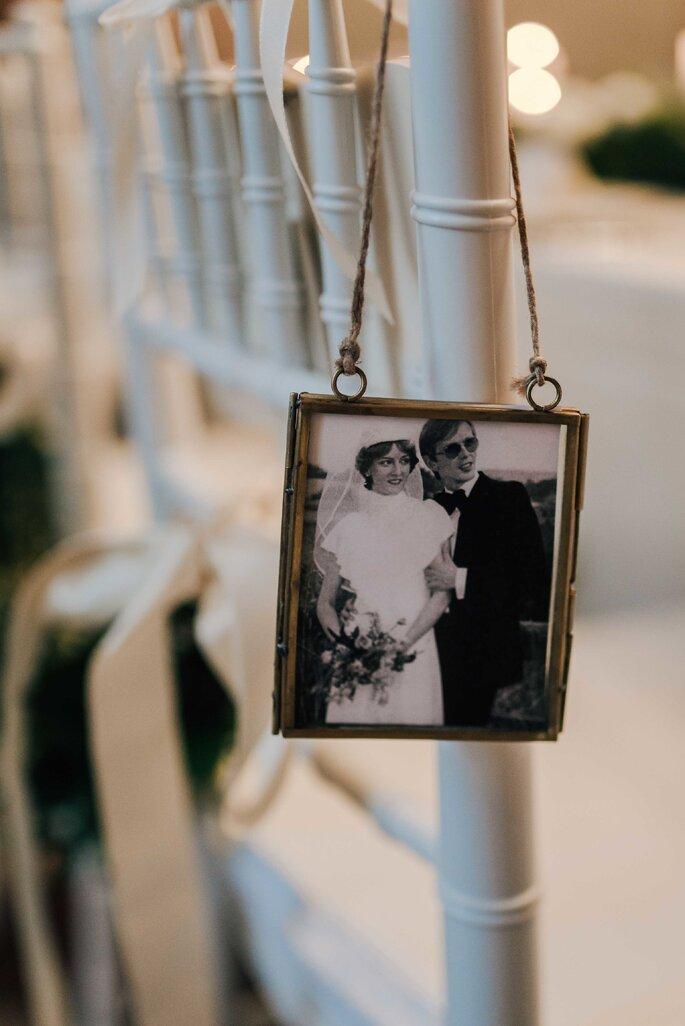 Bilderrahmen Vintage mit Brautpaar