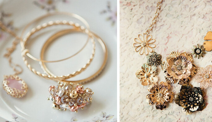 Collares, anillos y pulseras estilo vintage para una boda - Foto: Ruche