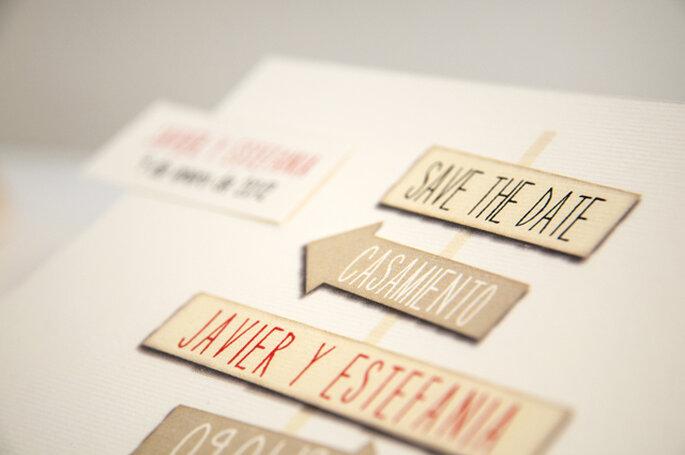 Tendencias originales para invitaciones de boda. Foto: Orygami