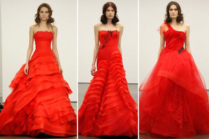 Tre fantastici modelli di abito da sposa rosso