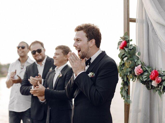 noivo entrada da noiva