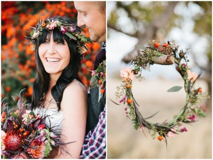 Séance photographique de mariage inspirée par l'automne - Photo: Alyssia B Photography
