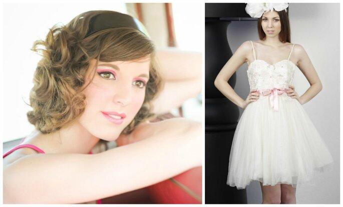 Photo à gauche : Maquillage Maryline Vallois Maquilleuse / Photo à droite : Robe Modèle Urane de Gwanni
