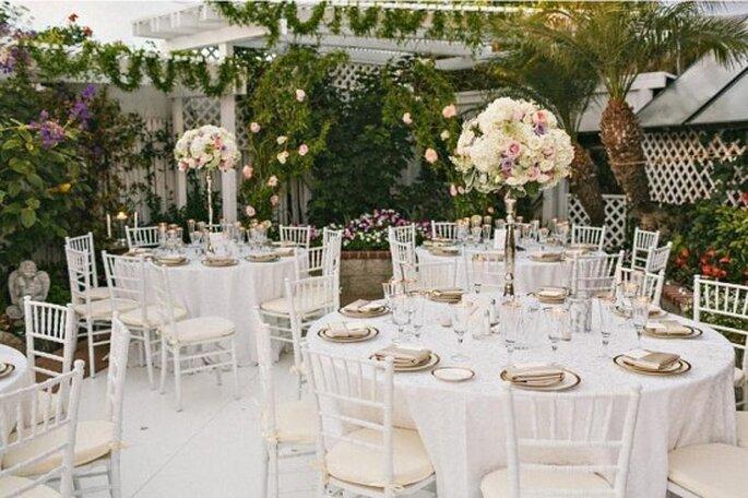 mesas para bodas en jardin imagui