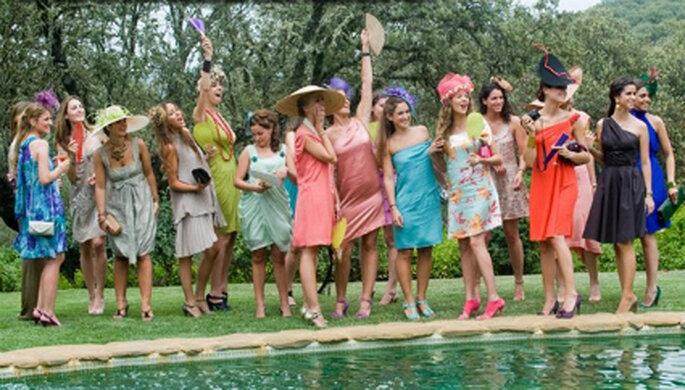 cómo vestirse para una boda de campo