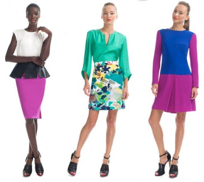 Vestidos fashion en colores solidos de moda en 2013 - Foto Moda Operandi