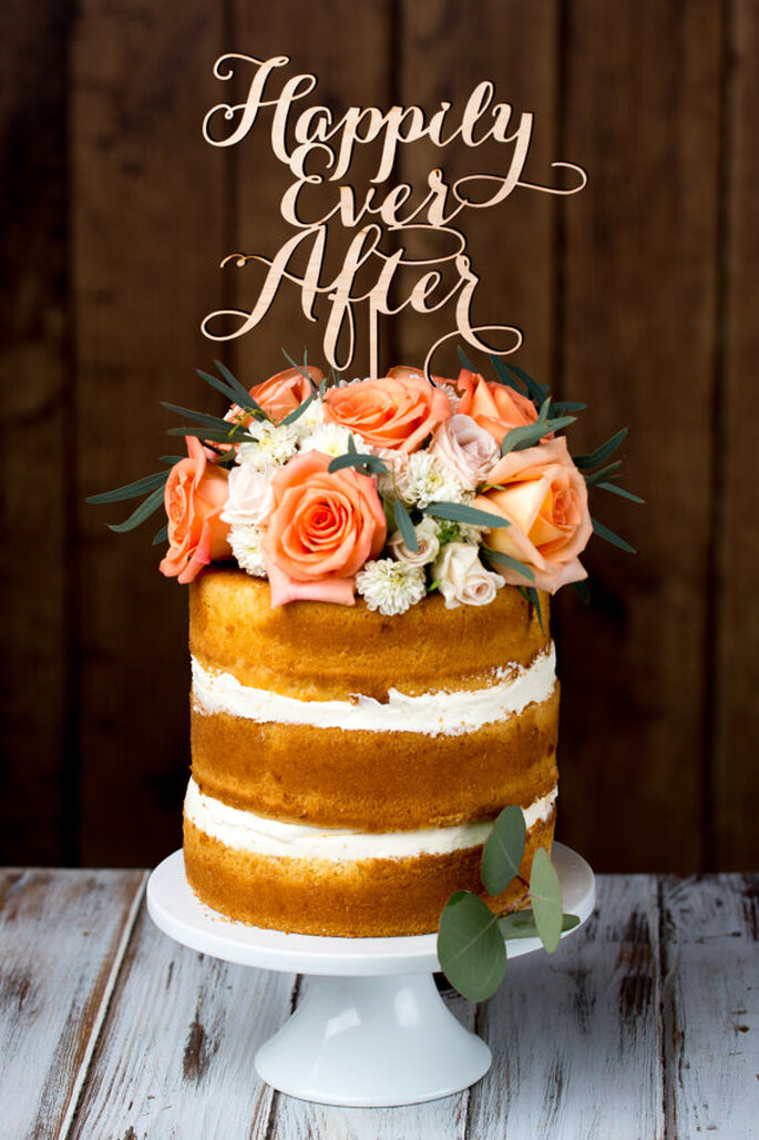 Cake Topper Happily Ever After - Foto Etsy