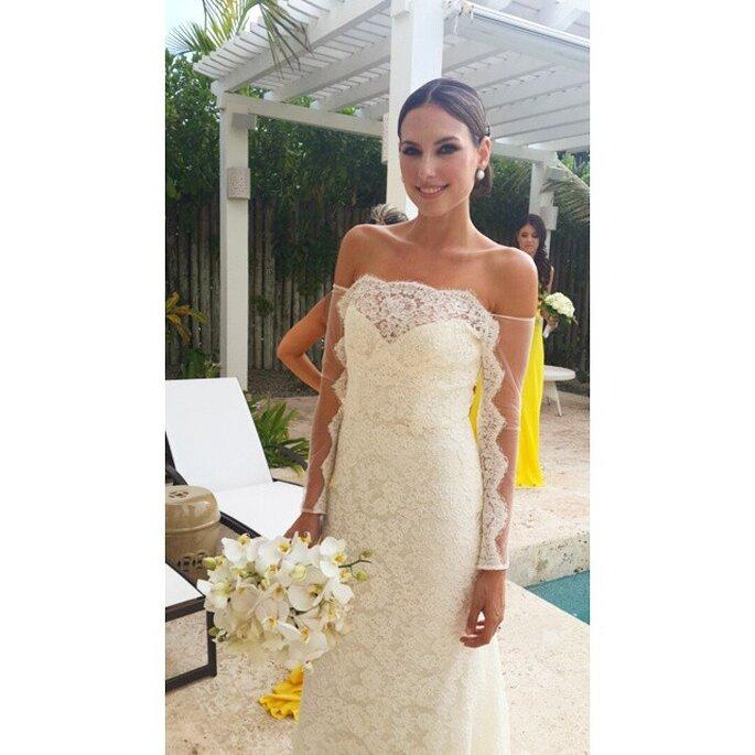 95f4d96162 Los 12 mejores vestidos de novia de nuestras famosas Colombianas