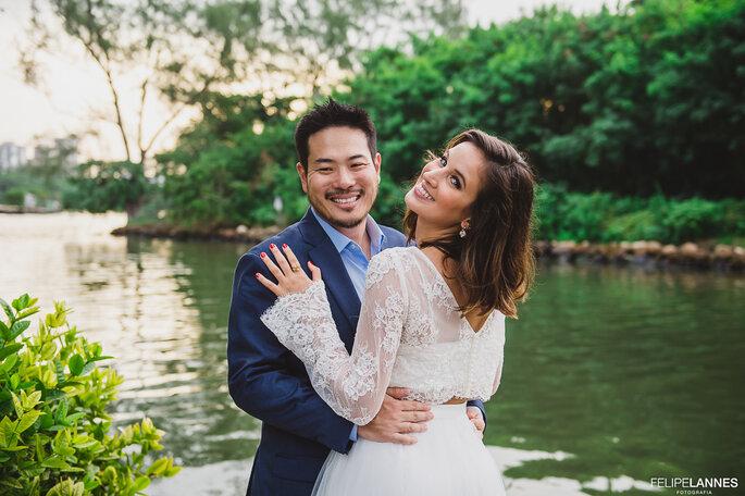 Foto casal Carol e Douglas