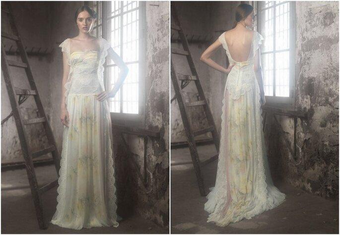 Vestido de novia Fiona, con romántico estilo vintage, de Raimon Bundó 2014. Foto: www.raimonbundo.com