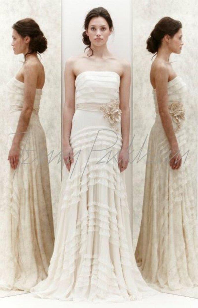 Brautkleid mit floralen Elementen - Foto Jenny Packham