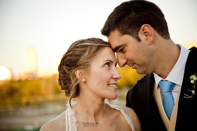 Flechtwerke verleihen der Brautfrisur das Romantische - Foto: Chema Naranjo