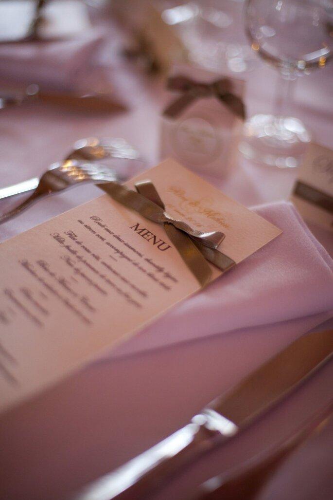10- papeterie menu - organisation mariage