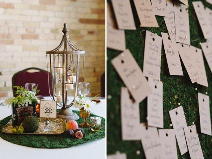 Decora con elementos avejentados, velas, frutas y tarjetas - Foto T&S Hughes Photography