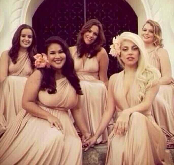 Lady GaGa es dama de honor en la boda de su mejor amiga - Foto Lady GaGa Twitter