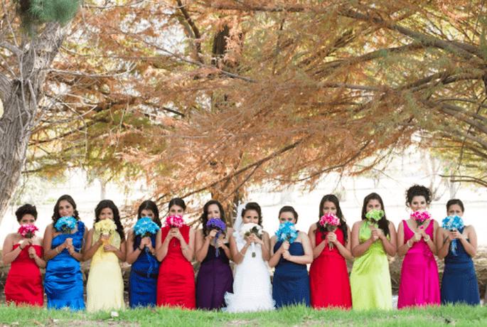 Vestidos de dama de honor para boda.  Fotografìa Atlanta Studio
