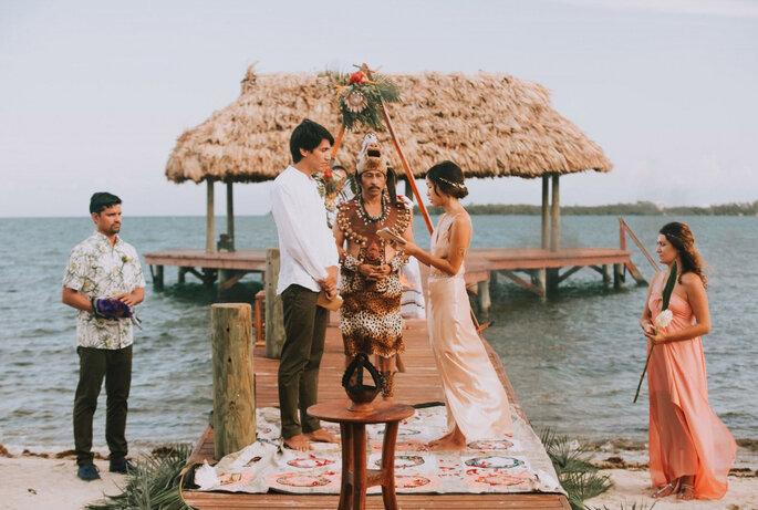 representação real de uma Cerimónia de Casamento Maya