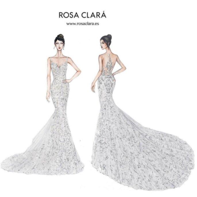 Primeiro vestido Rosa Clará