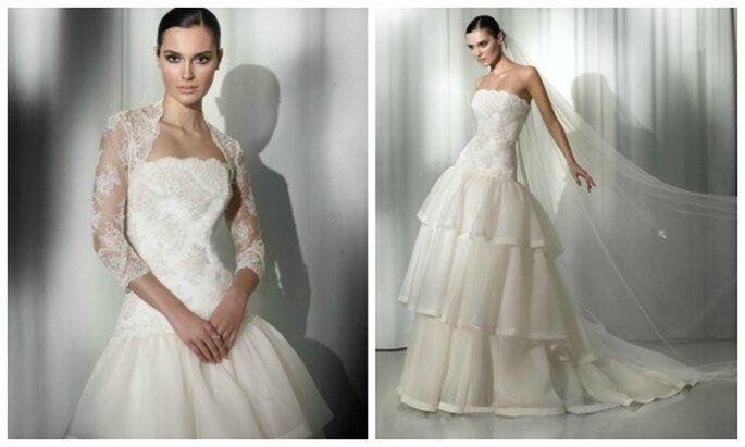 """824ed5ea41 Saber más sobre """"Vestido de novia utilizando también bolero de encaje. Pepe  Botella"""""""