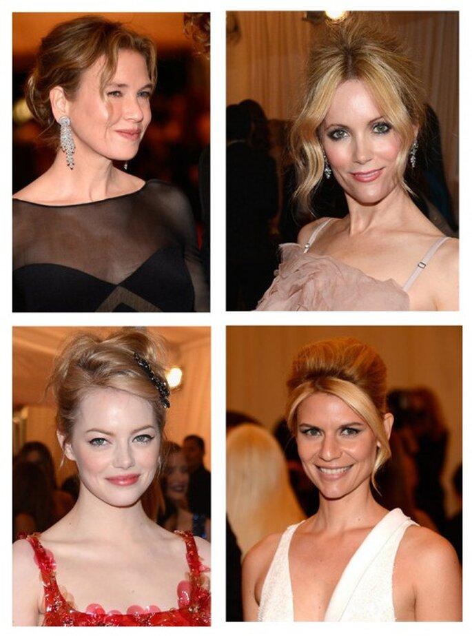 Renee Zellweger, Leslie Mann, Emma Stone y Claire Danes en la MET Gala 2012 - Foto Getty