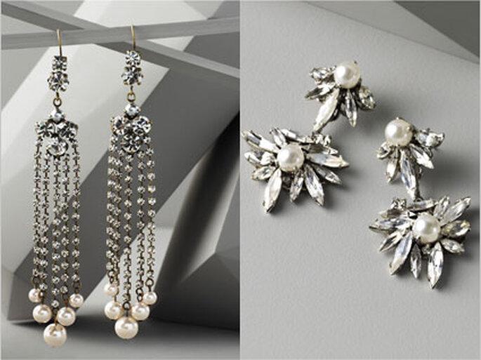 4/5 Zwei Modelle für Bräute, die gerne Perlen tragen.