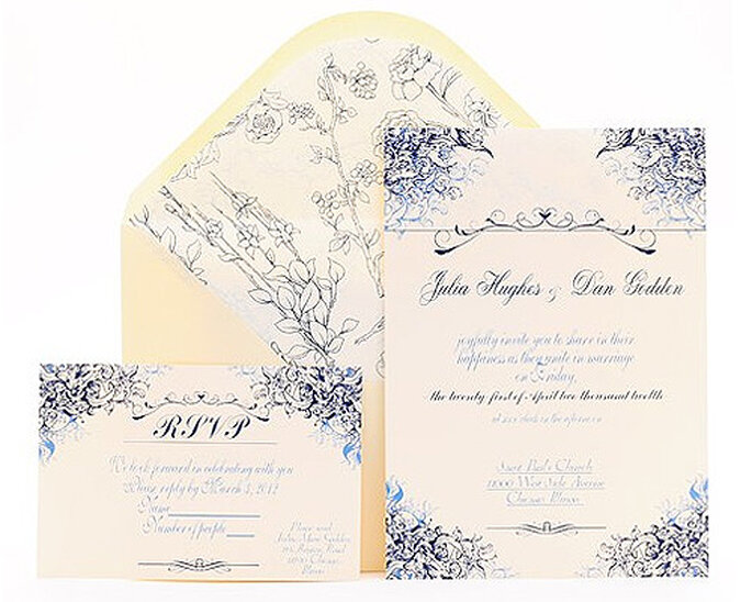 Partecipazione di nozze Mod. Viena,Azulsahara