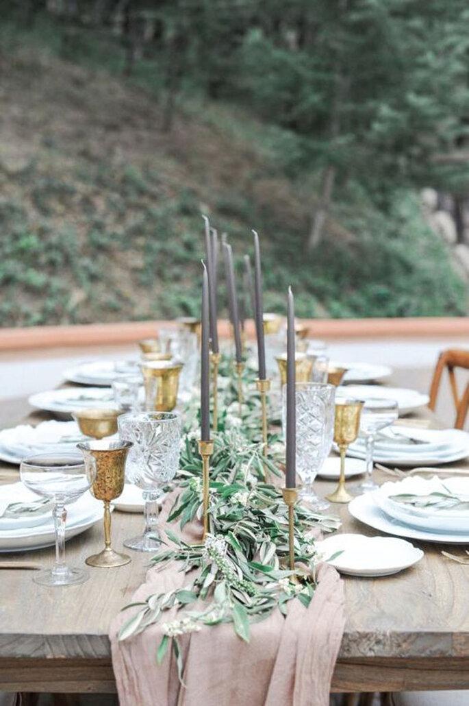 Hochzeitsdekoration Tisch rustikal