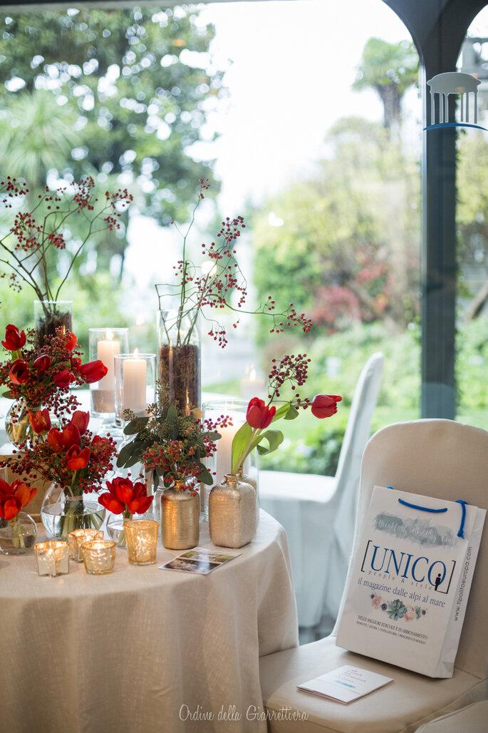 Le bag firmate Unico Wdding attendono i nostri ospiti