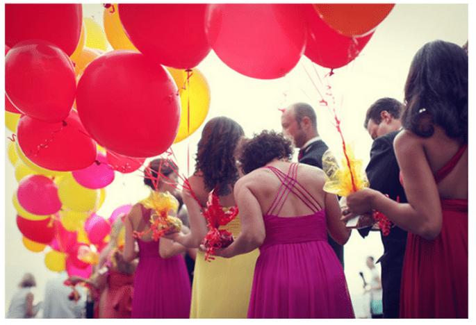 Decoración de boda con globos - Foto Michele M. Waite