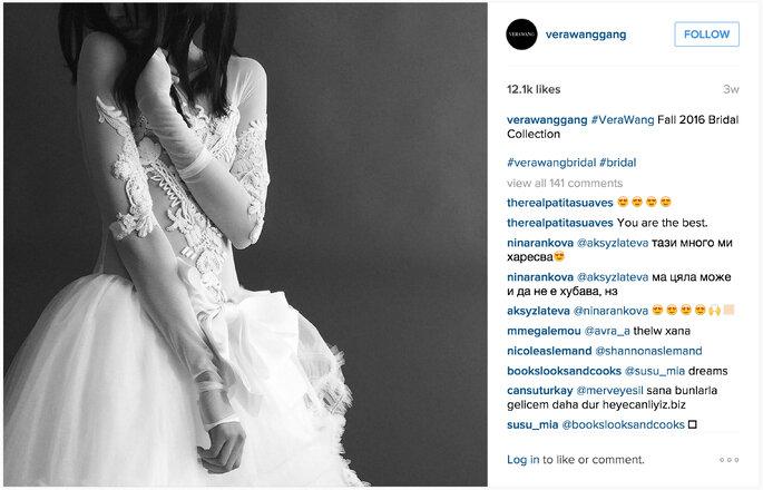 Image via Vera Wang Instagram