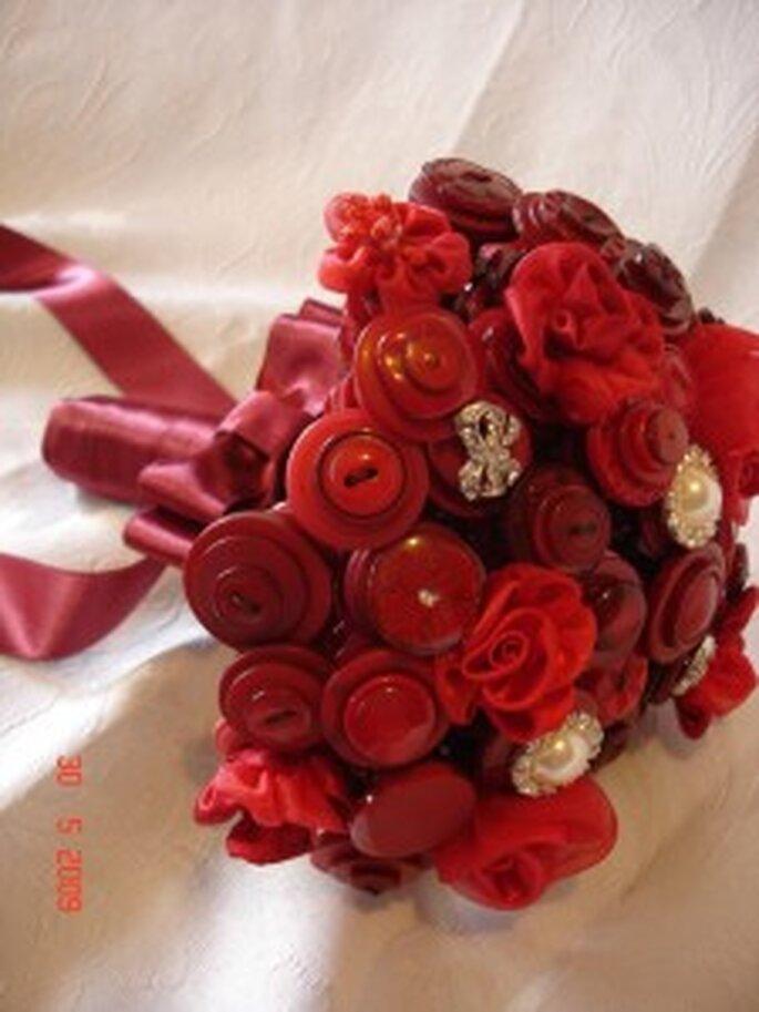 Bouquet de mariée en boutons