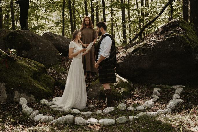 matrimonio celtico cerchio di pietre