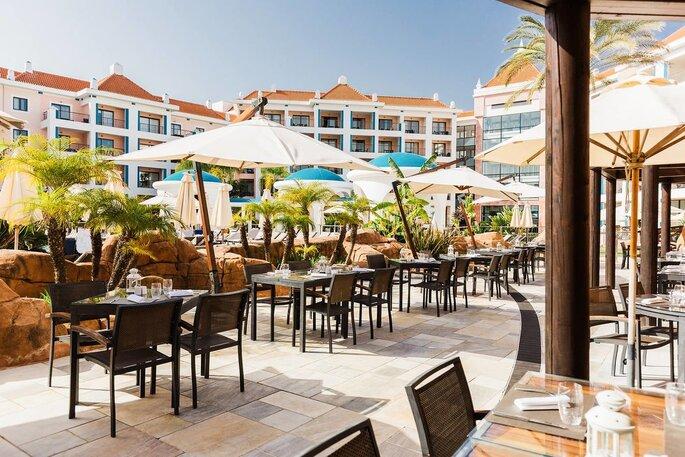 Zona exterior do Hilton Vilamoura As Cascatas Golf Resort & Spa