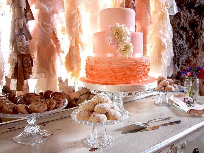 La decoración con telas acompaña muy bien en el estilo rústico. Foto: Casie