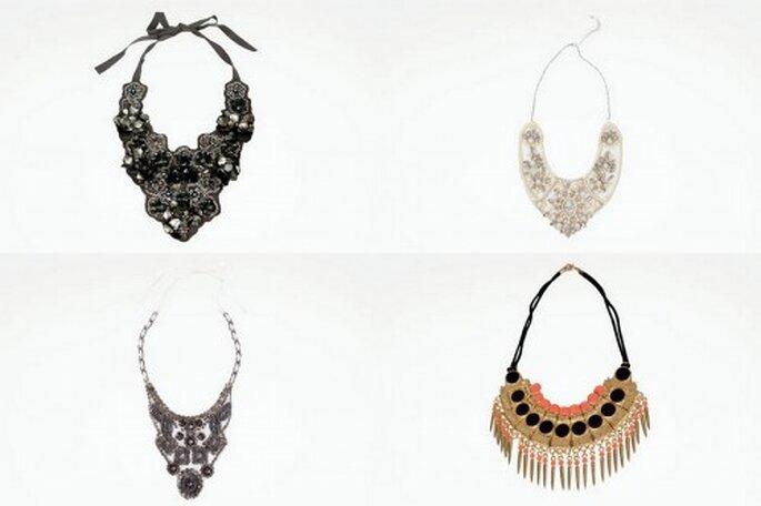 Tendencias en collares con piedras para ir a una boda. Foto: Zara.com