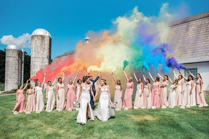 Bombas de humo de color para bodas
