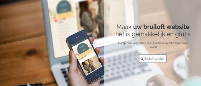 Zankyou bruiloftwebsite