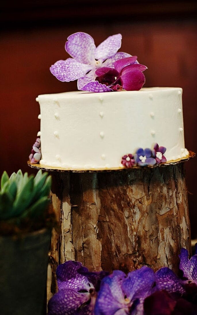 Te presentamos 40 tartas de boda como elemento decorativo