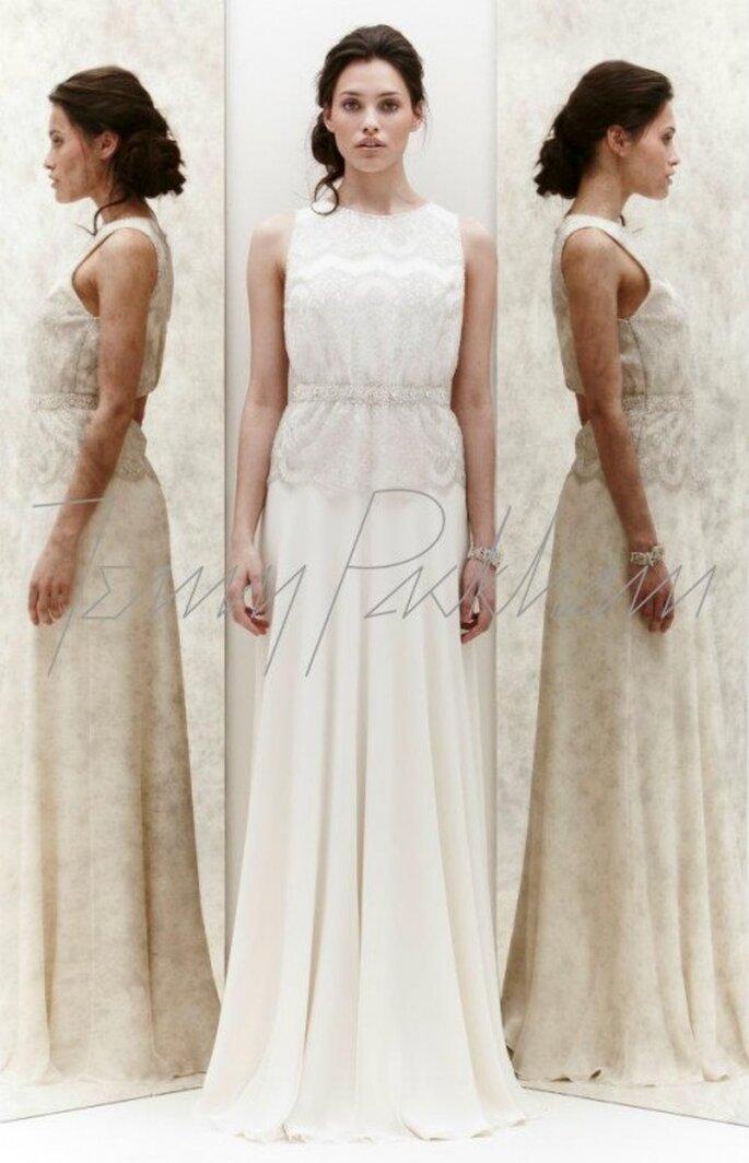 Vestido de novia recto con detalles incrustados - Foto Jenny Packham