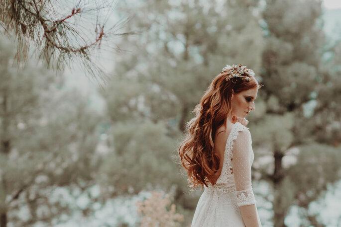 Peinados de novia pelo suelto