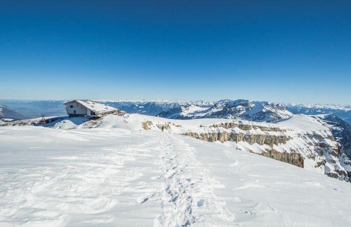 Schneelandschaft am Chäserrugg.