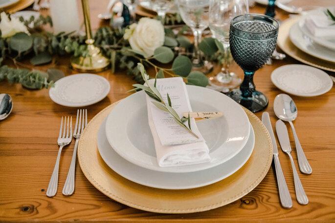 decoração mesa rustica