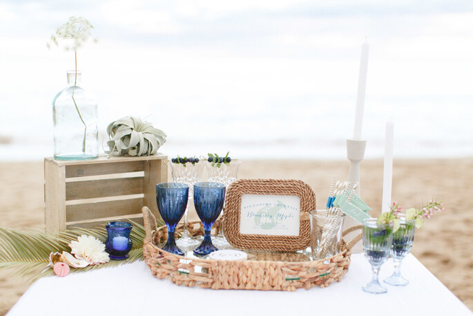 montaje para una boda en la playa- Ruth Eileen