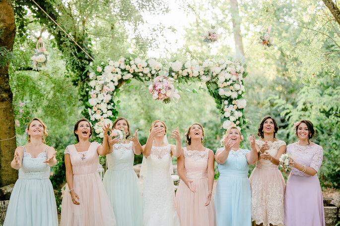 a noiva e as damas de honor