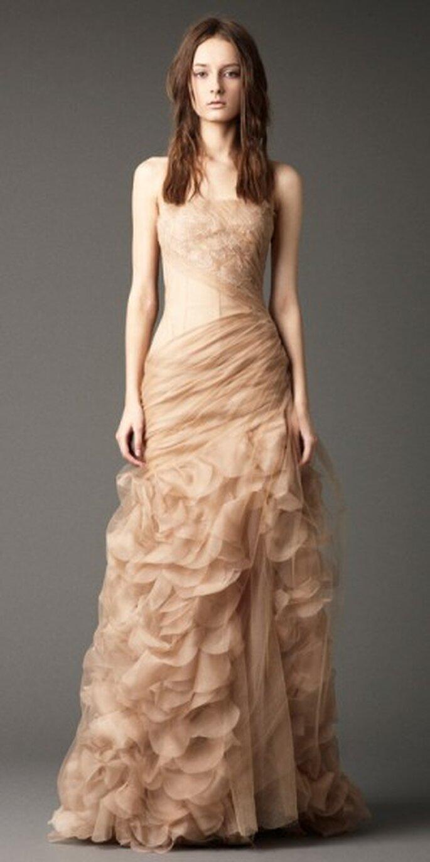 Vestido novia otoño 2012. Foto del sitio de Vera Wang.
