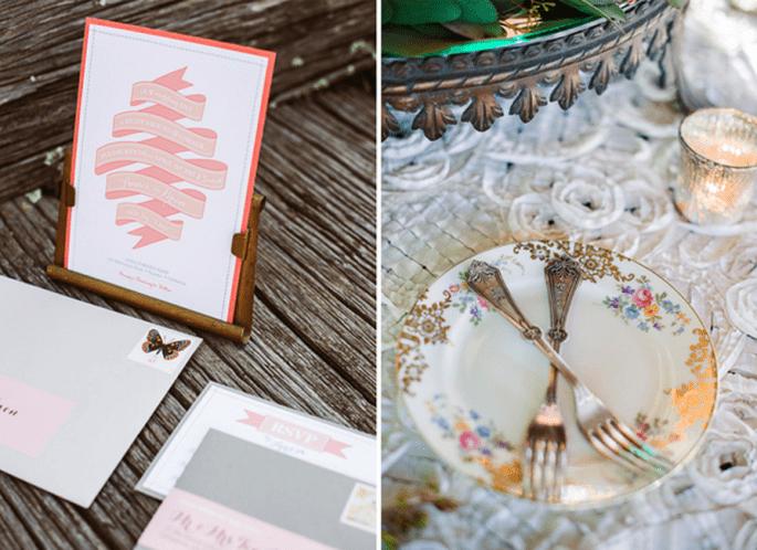 Incroyables idées déco pour un mariage vintage super trendy - Photo Ken Kienow