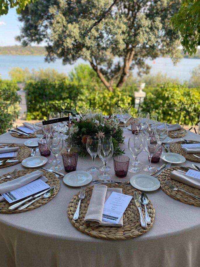 Mesa para el banquete de boda