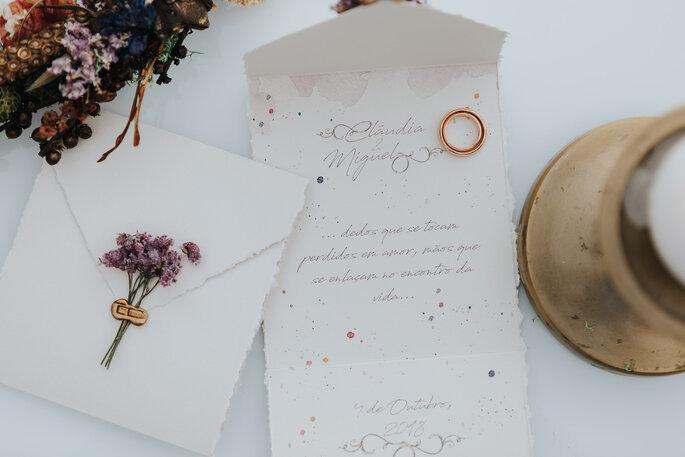 Elegante und edle Hochzeitspapeterie mit Kalligrafie Elementen