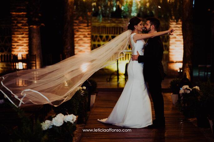 Ensaio dos noivos após a cerimônia